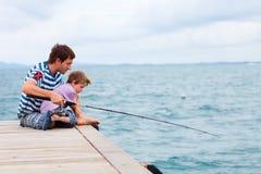 De visserij van de familie royalty-vrije stock foto