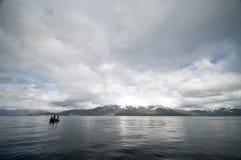 De visserij van de fjord stock afbeeldingen