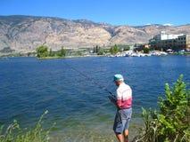 De visserij van de kant van de weg Stock Foto's