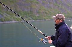 De visserij van de mens Stock Afbeeldingen