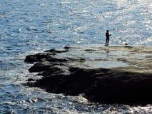 De visserij van de mens Stock Foto
