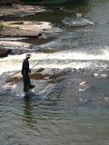 De visserij van de stroomversnelling! Royalty-vrije Stock Foto's