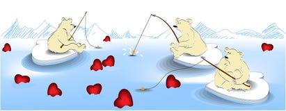 De visserij van de valentijnskaart vector illustratie