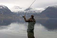 De visserij van de vlieg Stock Fotografie