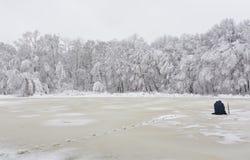 De visserij van de winter Royalty-vrije Stock Afbeeldingen
