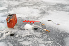 De visserij van de winter Royalty-vrije Stock Fotografie
