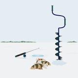 De visserij van de winter stock illustratie