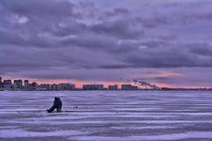 De visserij van de winter Royalty-vrije Stock Foto
