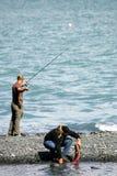 De visserij van de zalm Stock Foto's