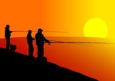 De visserij van de zomer Stock Foto