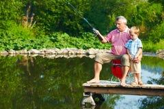 De visserij van de zomer Stock Afbeelding