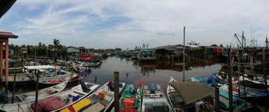 De visserij van dorp in bagan sekinchan Maleisië Royalty-vrije Stock Afbeeldingen