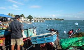 De visserij van dorp in Colombo, Sri Lanka Stock Afbeeldingen