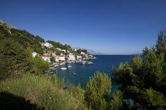 De visserij van dorp in Europa Stock Afbeelding