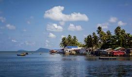 De visserij van Dorp Ham Ninh in Phu Quoc Stock Fotografie