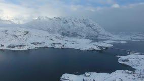 De visserij van dorp in Lofoten stock videobeelden