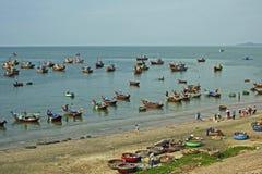 De visserij van dorp in Muine, Vietnam Stock Foto's