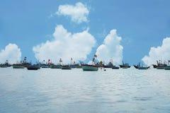 De visserij van dorp in Ne Mui Royalty-vrije Stock Foto