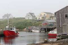 De visserij van dorp in Nova Scotia Canada royalty-vrije stock fotografie