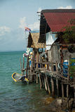 De visserij van dorp op Pulau Sibu, Maleisië Stock Afbeeldingen