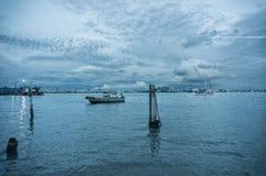 De visserij van dorp in Penang bij bewolkte dag Royalty-vrije Stock Afbeelding
