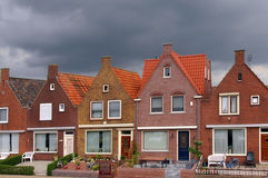 De visserij van dorp van Volendam Holland Stock Afbeeldingen