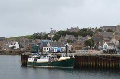 De visserij van haven van Stromness, de second-most dichtbevolkte stad in Vasteland Orkney, Schotland stock foto's