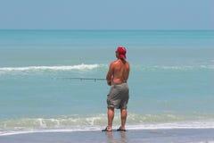 De visserij van het geduld Royalty-vrije Stock Foto