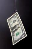 De visserij van het geld. Het concept van de valstrik. stock foto