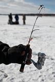 De visserij van het ijs Stock Foto's