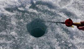 De visserij van het ijs Royalty-vrije Stock Afbeeldingen