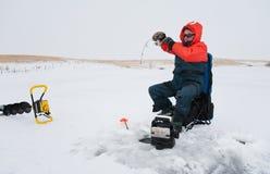 De visserij van het ijs Royalty-vrije Stock Fotografie