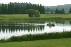 De visserij van het meer stock afbeeldingen