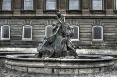 De visserij van Kinderenstandbeeld in Buda Castle Stock Fotografie