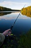 De visserij van Lapland royalty-vrije stock foto