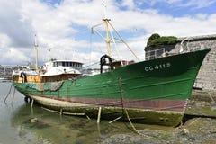 De visserij van Museum in Concarneau, Ville Close, Bretagne, Frankrijk Royalty-vrije Stock Foto