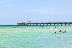 De visserij van Pijler in Sunny Isles, Florida Royalty-vrije Stock Foto