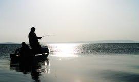 De visserij van snoeken Royalty-vrije Stock Foto's