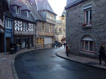 De visserij van stad in Brittany France Stock Afbeeldingen