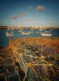 De visserij van Vallen in Cascais Stock Foto