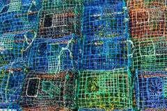 De visserij van vallen voor vissen en octopussen De industrie van visserij Stock Foto