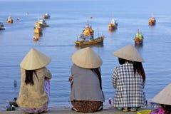 De Visserij van Vietnam Toneel Royalty-vrije Stock Afbeeldingen