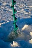 De visserijboor van het ijs Royalty-vrije Stock Afbeeldingen
