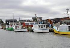 De visserijdorp van de Kust van het oosten Stock Foto