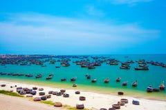 De visserijdorp van Ne van Mui Stock Foto