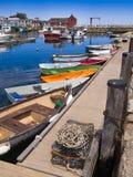 De visserijdorp van New England Stock Afbeeldingen