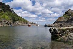 De visserijdorp van Polperro Stock Foto