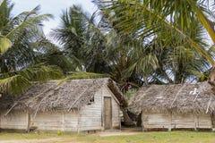 De vissers huisvesten bij Kalpitiya-lagune, Sri Lanka Royalty-vrije Stock Foto