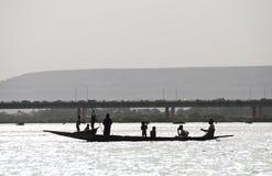 De vissers van Bozo in Bamako, Mali royalty-vrije stock afbeelding