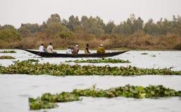 De vissers van Bozo buiten Bamako, Mali royalty-vrije stock afbeelding